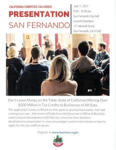 California Competes Tax Credit Presentation
