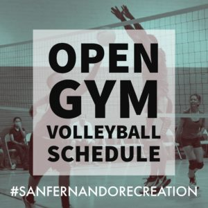 POST PIC Open Gym Volleyball Schedule (FB & IG)