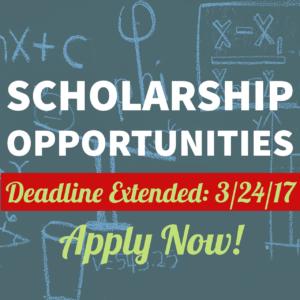 Scholarship Opportunities Deadline Extended