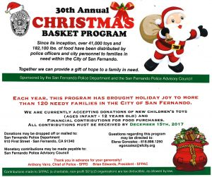 SFPD Christmas Baskets 2017
