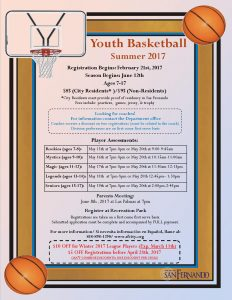 Youth Basketball Summer 2017 Flyer