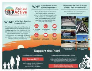 Safe and Active Streets Flyer