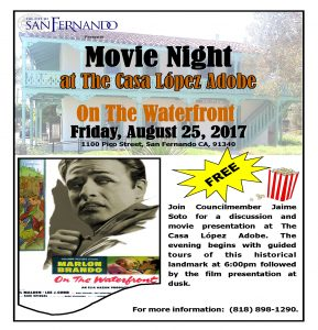 Free Movie Friday (8-25-17) On the Waterfront