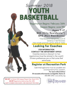 Summer 2018 Youth Basketball