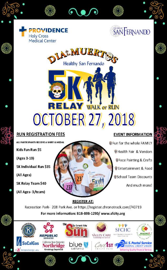 Dia de los Muertos Healthy San Fernando 5K Run Relay