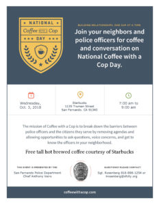 National Coffee with Cop