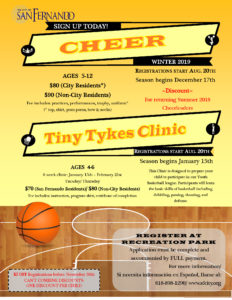 Youth Cheer & Tiny Tykes Winter League 2018