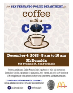 Coffee with a COP (12-4-18)