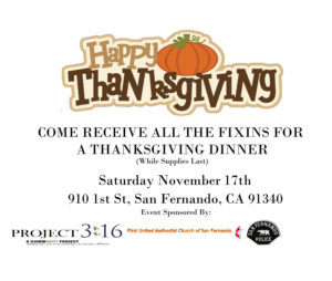Thanksgiving Dinner Giveaway Flyer 2018