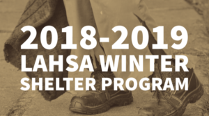 LA HOMELESS SERVICES AUTHORITY WINTER SHELTER PROGRAM