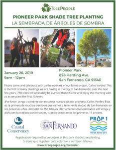 Pioneer Park Shade Tree Planting (1-26-19)