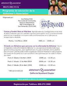 Programas de Educación de la Alzheimer's Association (2019)