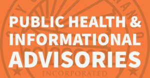 Public Health & Info Advisories