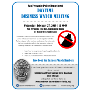 Daytime Business Watch Meeting