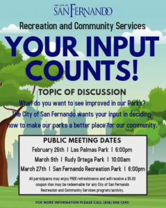 Parks Grant Meetings Flyer