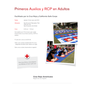 RED CROSS FIRST AID & CPR CLASS (SPANISH)