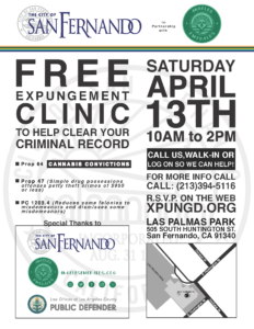 FREE EXPUNGEMENT CLINIC