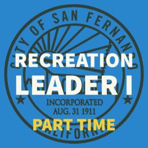 Recreation Leader I