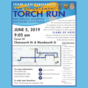 SFPD TORCH RUN TO BENEFIT SPECIAL OLYMPICS