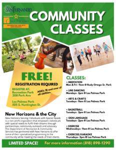 FREE COMMUNITY CLASSES