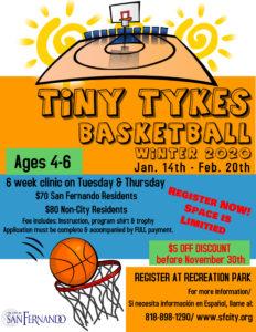 Tiny Tykes Basketball Clinic