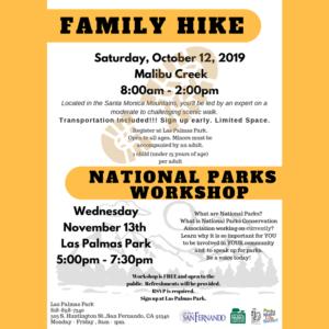 Malibu Creek (10-12-19) & Natl Parks Workshop (11-13-19) eng