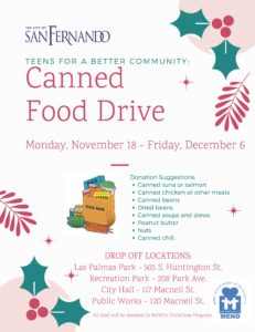 TBC Canned Food Drive Flyer