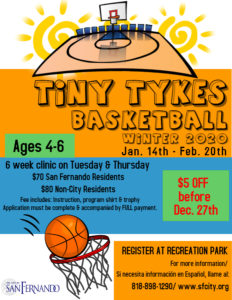Tiny Tykes Basketball Clinic