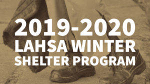 2019-2020 LAHSA WINTER SHELTER PROGRAM