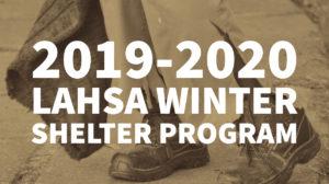 2019-2020 LAHSA WINTER SHELTER PROGRAM