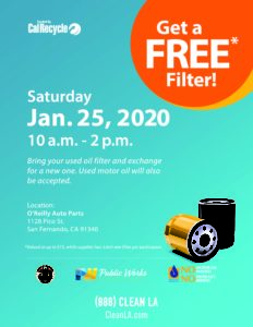 FREE USED OIL FILTER EXCHANGE