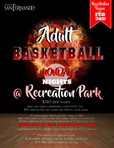Adult Basketball Spring League