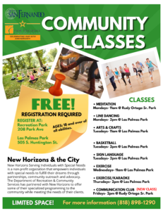 New Horizons Community Classes
