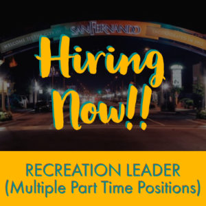 POST PIC Hiring Now (Recreation Leader Positions) IG