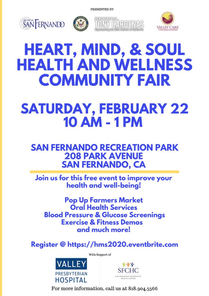 HEART, MIND, & SOUL HEALTH & WELLNESS COMMUNITY FAIR