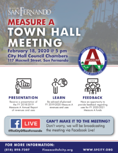 Measure A Town Hall Meeting