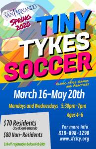 Tiny Tykes Soccer Spring 2020