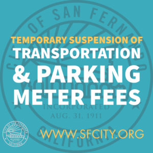 Temporary Suspension of Local Transportation & Parking Meter Fees