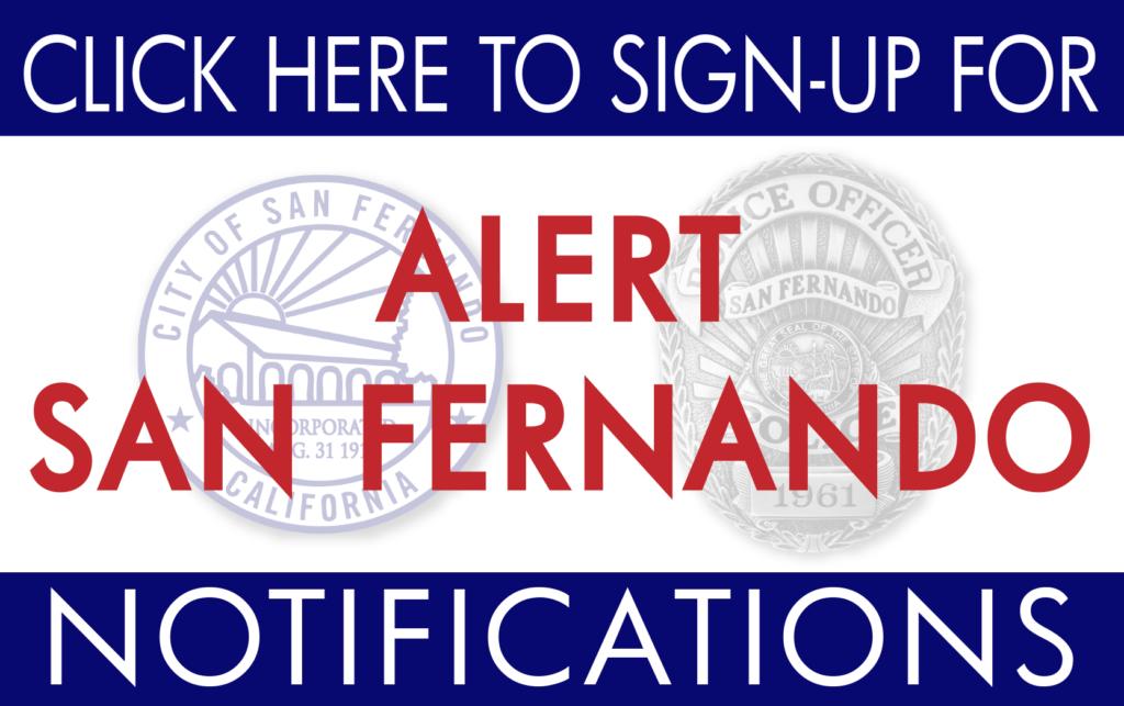 Alert San Fernando Sign Up