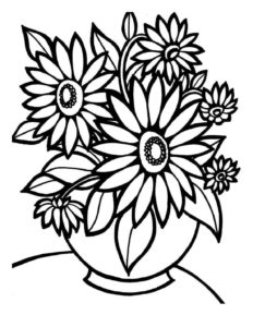 Coloring Sheets - Flower vase