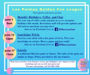 LP Golden Fun League List of activities 5-22-20