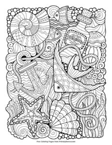 Sea-Things Coloring Page