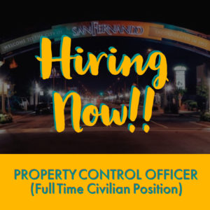 POST PIC Hiring Now (Property Control Officer) IG