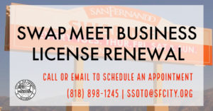 Swap Meet Business License Renewal