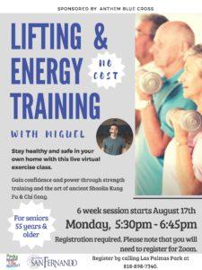 Seniors Lifting and Energy Training ENG