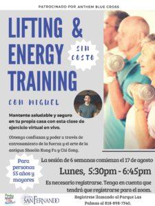 Seniors Lifting and Energy Training SP