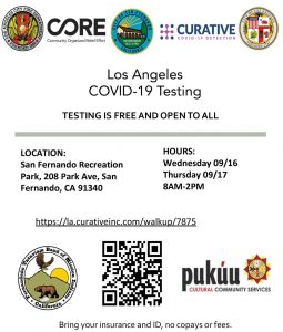 Free COVID-19 Testing at Recreation Park