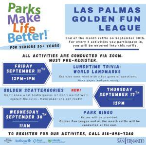 Las Palmas Golden Fun League September Activities ENG
