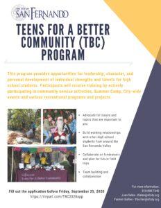 TBC Program Flyer