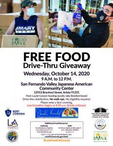 FREE FOOD DRIVE-THRU GIVEAWAY